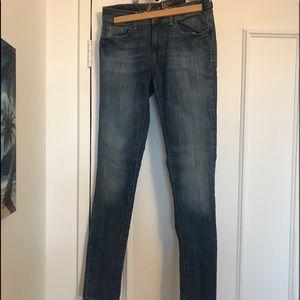 "NWT👖MAVI ""Alexa"" Mid Rise Skinny Jeans Dark Denim"